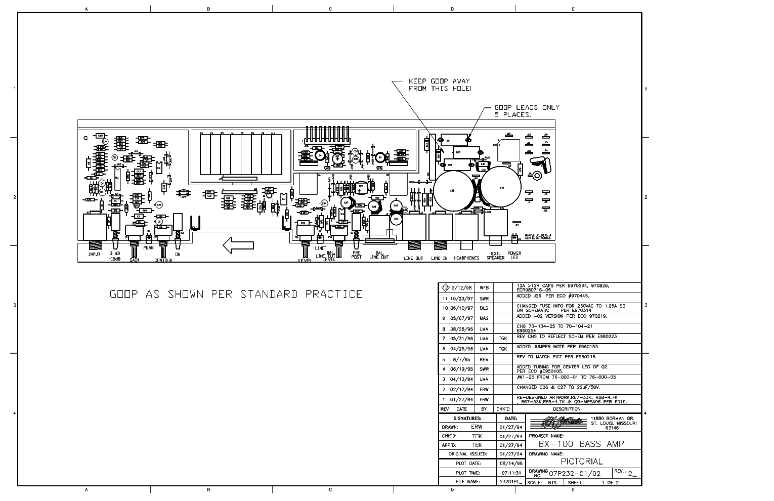 Slm Electronics Gt 50 Guitar Amp Service Manual Download Schematics Eeprom Repair Info For