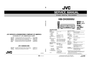 JVC HMDH30000U SM Service Manual download, schematics, eeprom, repair info for electronics experts