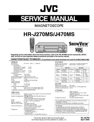 JVC HR J270MS J470MS J670MS SM Service Manual download