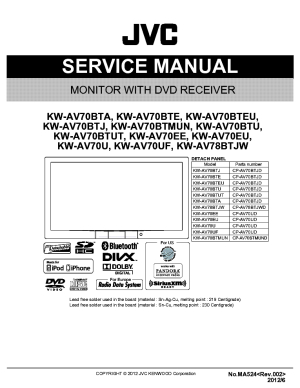 JVC HMDH40000U SM Service Manual free download, schematics, eeprom, repair info for electronics