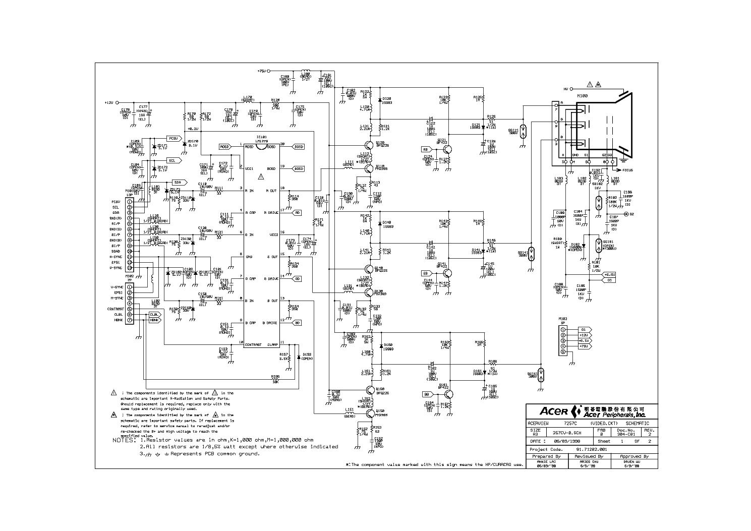 Acer Al722 Sch Service Manual Download Schematics Eeprom
