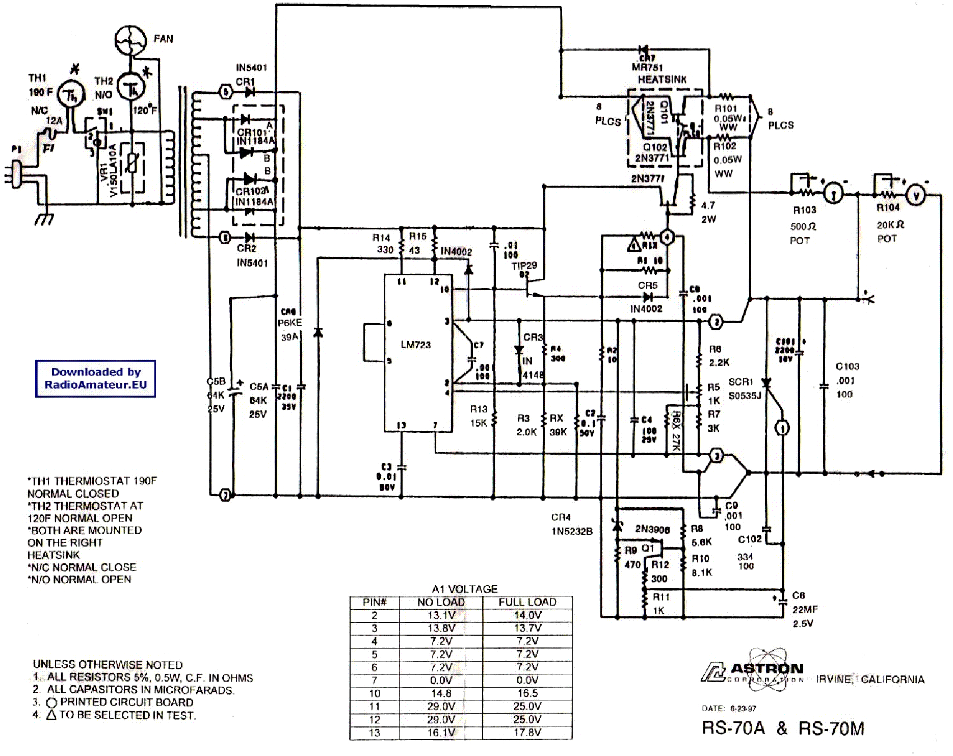 Astron Rs12a Service Manual Download Schematics Eeprom