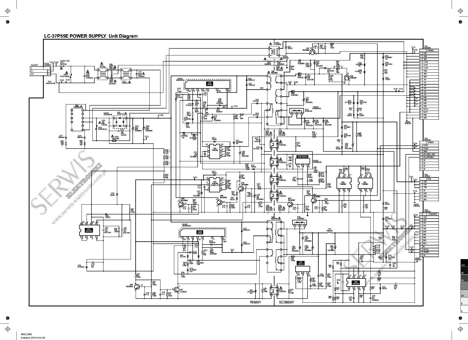 Lc 37p55e Inverter Schematic Sch Service Manual Download