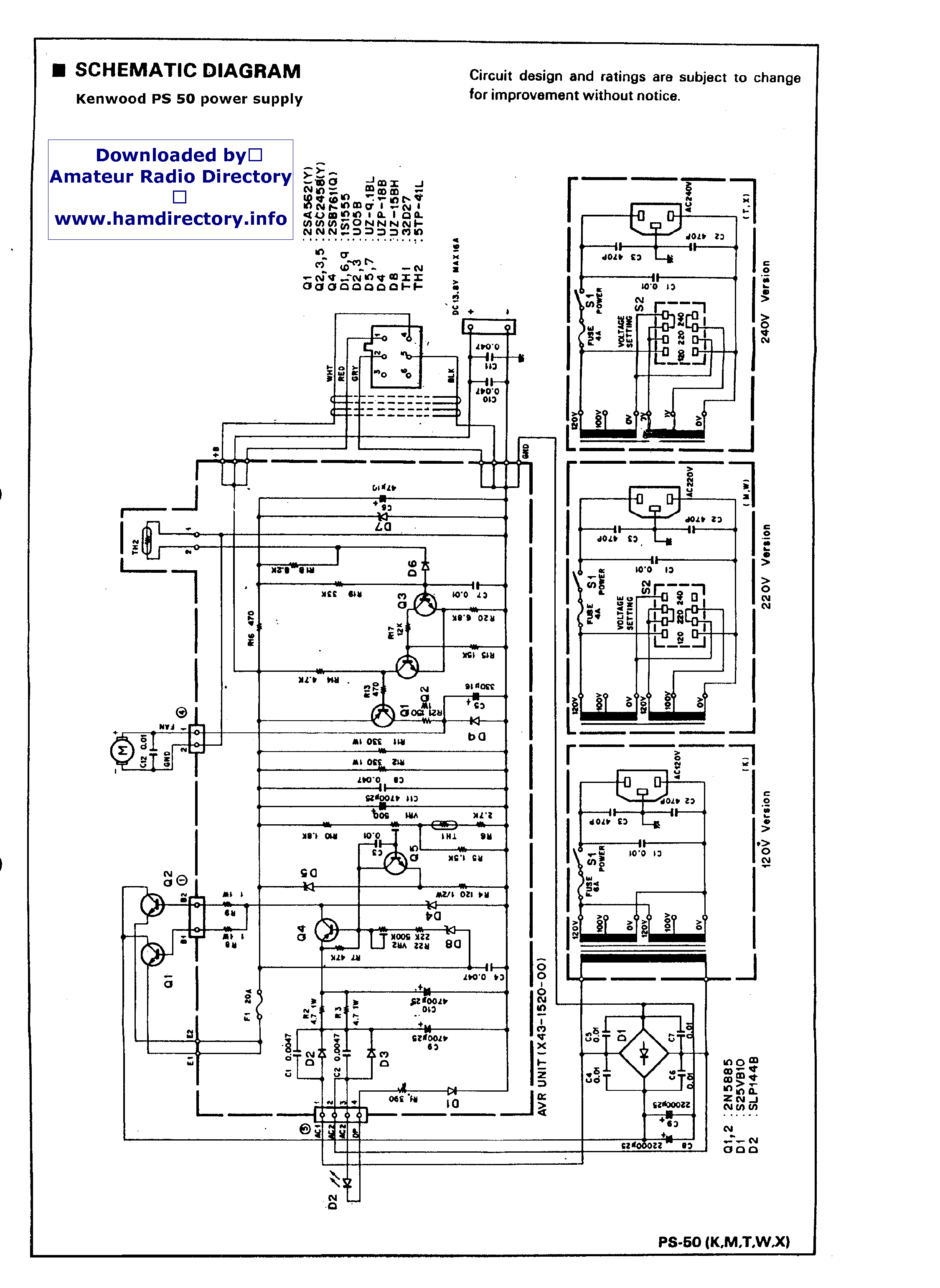 Kenwood Ps 50 Sch Service Manual Download Schematics