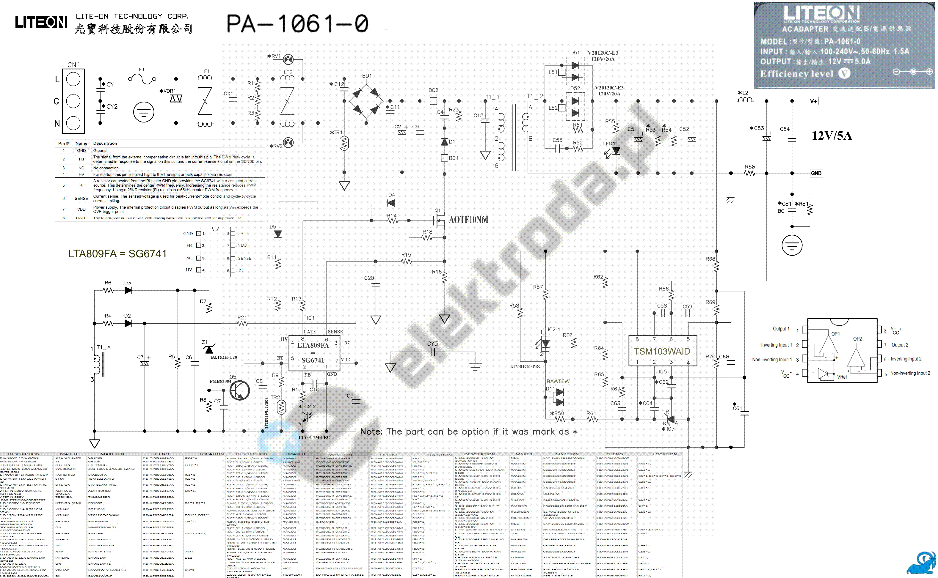 Liteon Pa 04 Out Power Schematic Service Manual Download Schematics Eeprom Repair Info