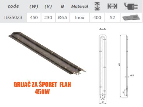 Grijač/grijači šporeta/štednjaka Flah 450W