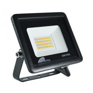 Eco LED reflektor 20W 6500K 1700lm Crni Mitea Elektro Vukojevic