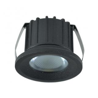 LED lampa svjetiljka ugradna 3W 6500K 270lm crni Mitea Elektro Vukojevic