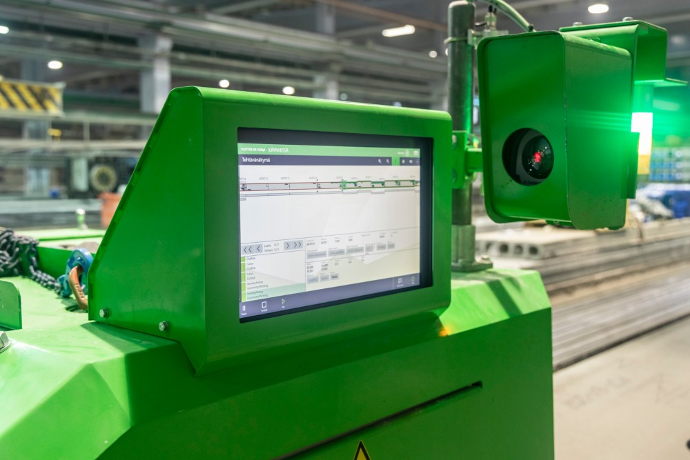The screen of Plotter E9 is the result of efficient usability design of precast machinery and operation system.