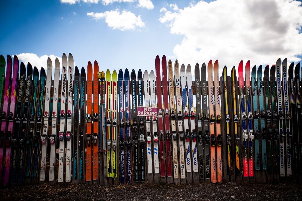 Ski town fencing in Park City, Utah.