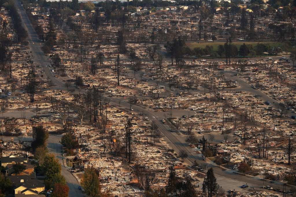 Coffey Park Area Destroyed By Tubbs Fire