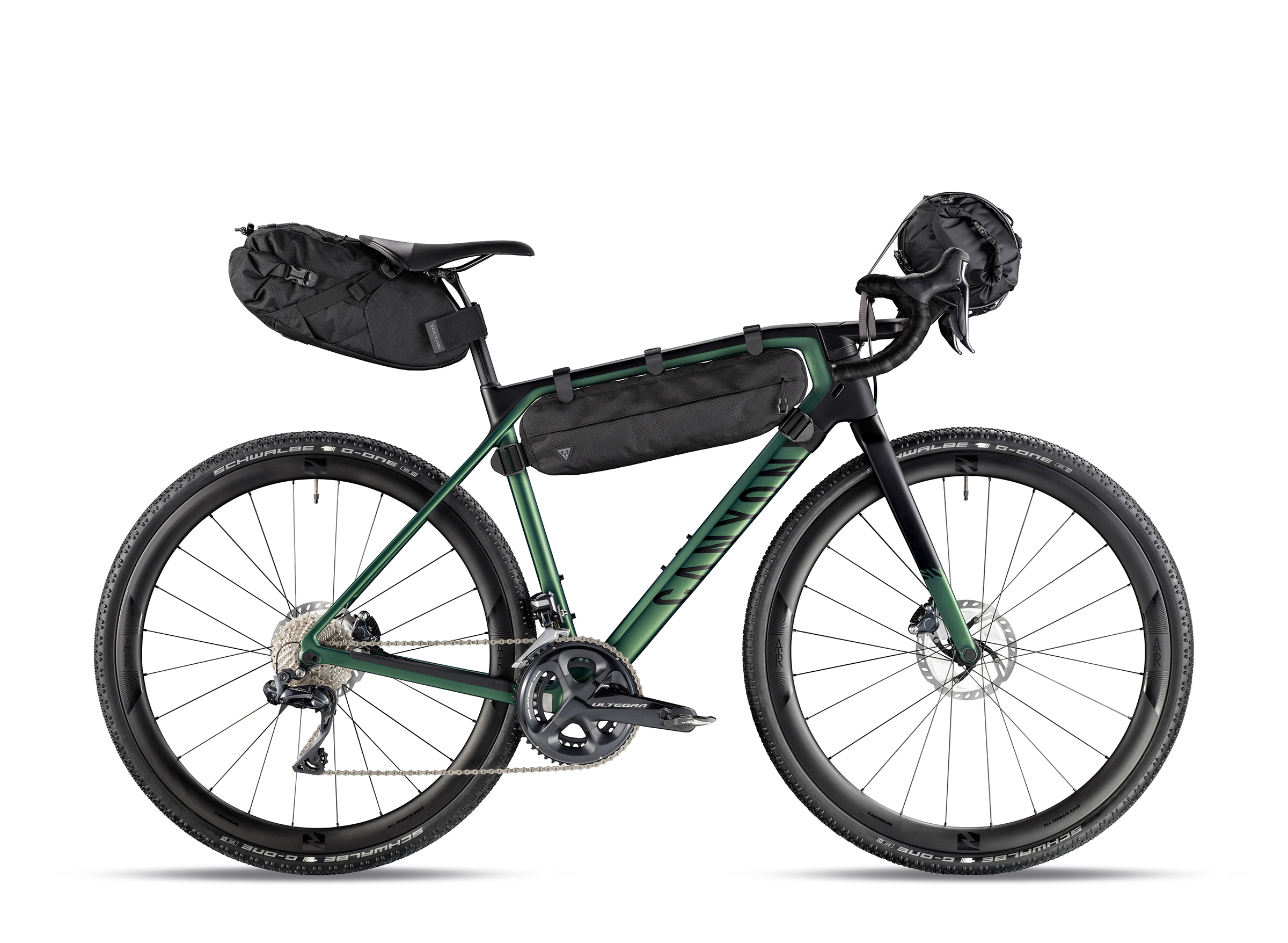 Canyon Grail CF SL 8.0 Di2 with Topeak camping bags