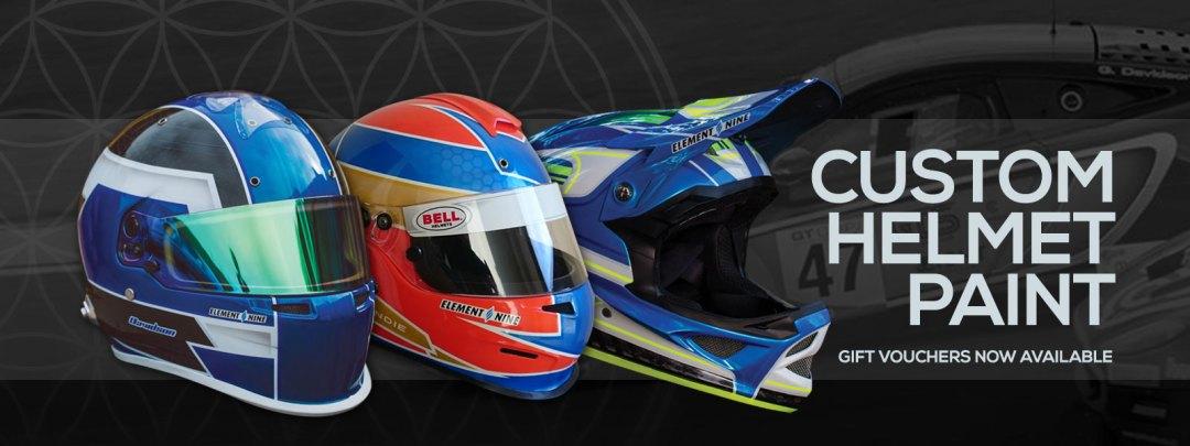 Custom helmet Paint gift vouchers