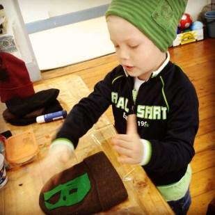 Making beanies was part of creating a skater idenity during the week too...