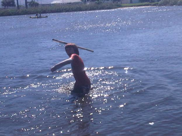 Spear fishing in the vlei...