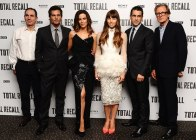 Beckinsale and Wiseman amongst the Total Recall cast