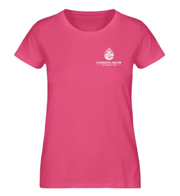 EWF White Logo - Ladies Premium Organic Shirt-6930