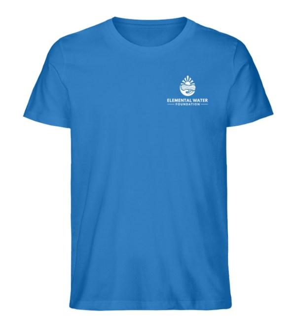 Organic T-shirt with White Logo - Men Premium Organic Shirt-6886