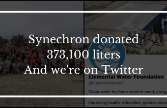 This is how Synechron donated 373,100 liters… Plus, we're on Twitter!