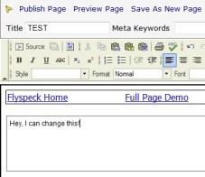 FlySpec Web Page Editor
