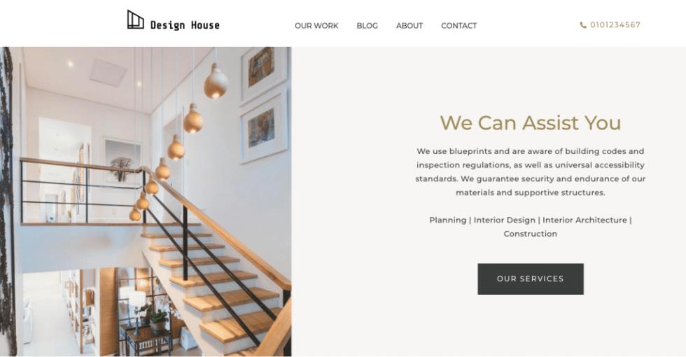 services de maison de conception