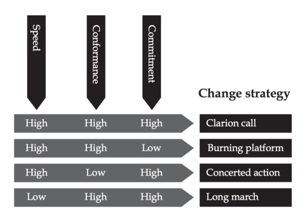 What is Change strategy
