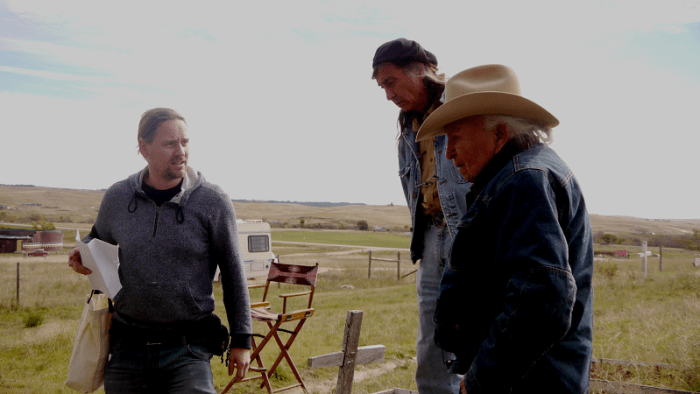 STEVEN LEWIS SIMPSON DIRECTING DAVE BALD EAGLE AND RICHARD RAY WHITMAN