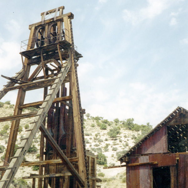 Headframe at the San Francisco Mine, Utah
