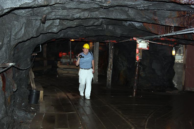 David Black in Lackawanna Coal Mine