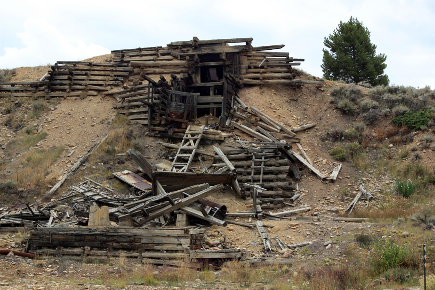Silver mining ruins at Leadville, CO