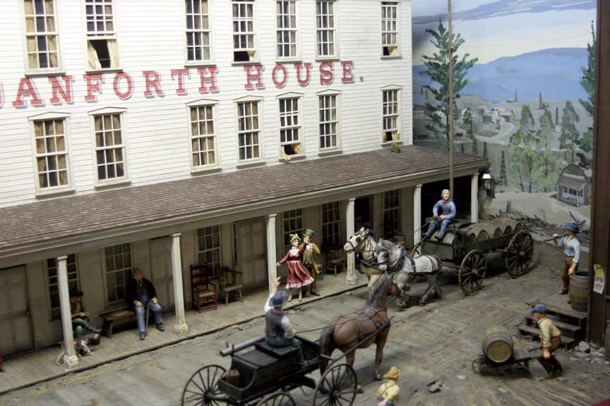 Diorama of Pithole, Pennsylvania