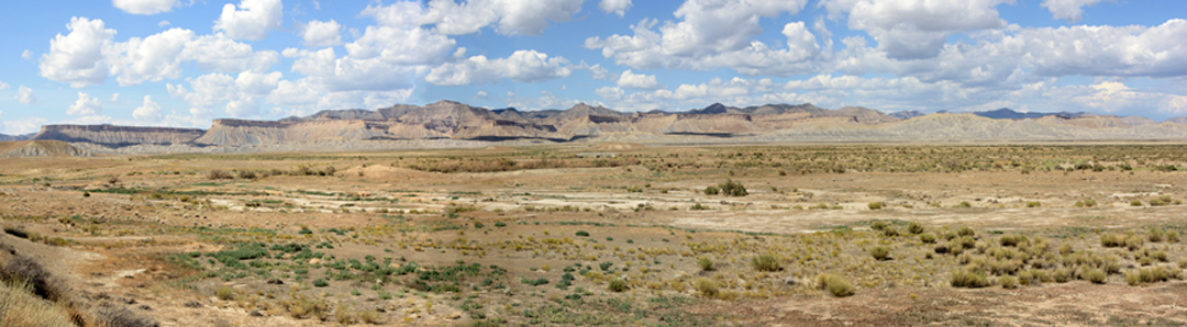 Panoramic photo of the Book Cliffs, Utah