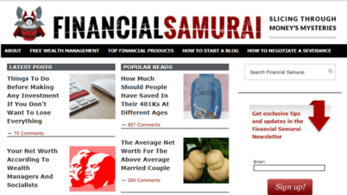 Financial Samurai Home Page