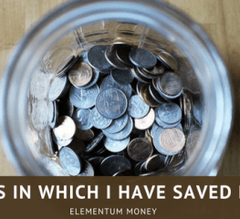 7 Ways In Which I Have Saved Money