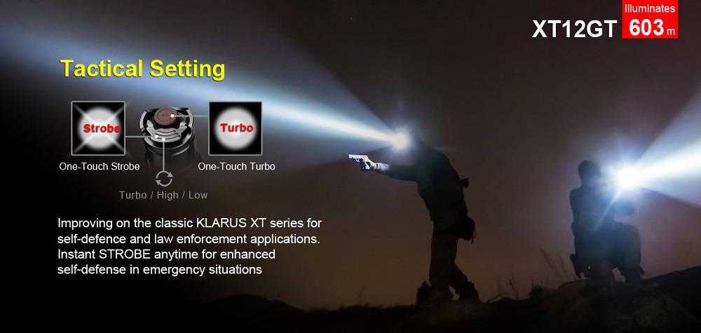 Klarus XT12GT taktikai csoport