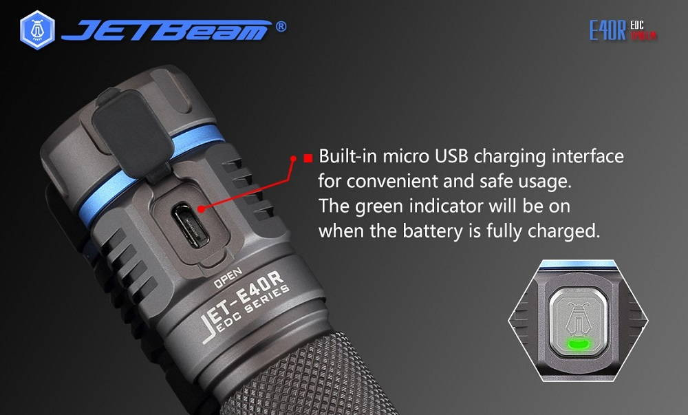 JETBeam E40R charger banner