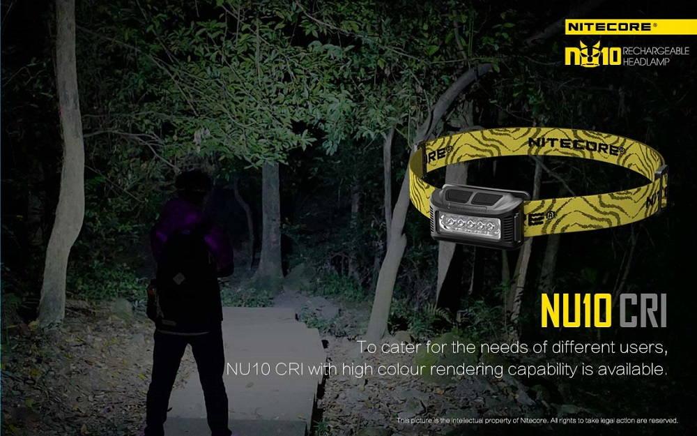 Nitecore NU10 CRI banner