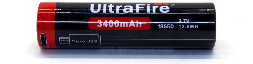 UltraFire US18-34 lítium-ion akku
