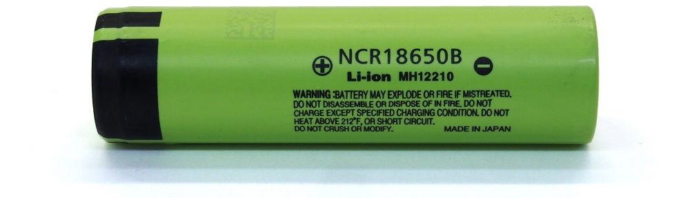 NCR18650B védelem nélkül lítium-ion akku