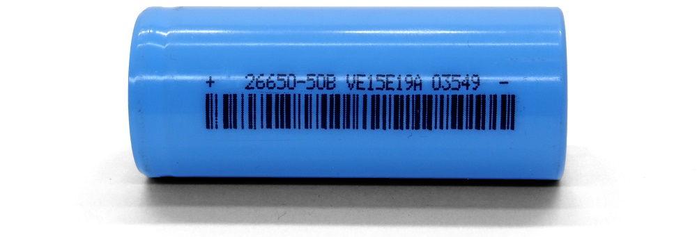 LiitoKala 26650 cyan lítium-ion akku