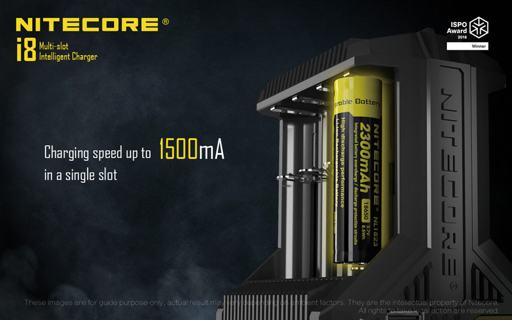 Nitecore i8 current banner