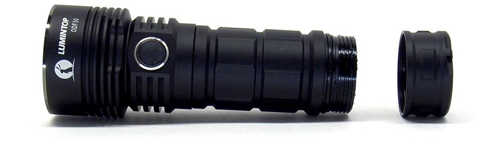 Lumintop ODF30 szétszedve