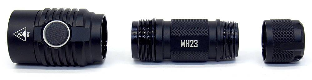 Nitecore MH23 szétbontva