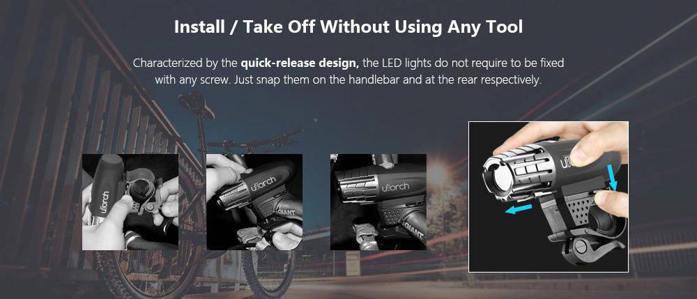 UTorch kerékpár lámpa design banner