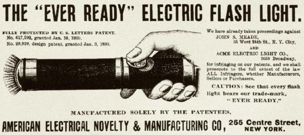 Ever Ready flashlight ad