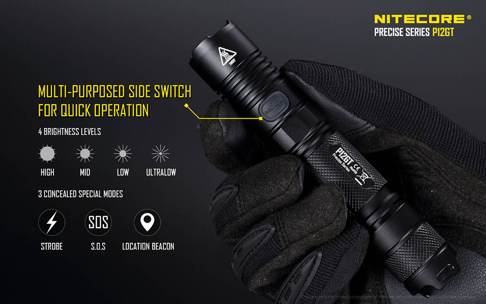 Nitecore P12GT mode banner