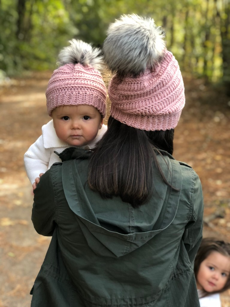 Isabel Crochet Beanie Mommy and Me Set