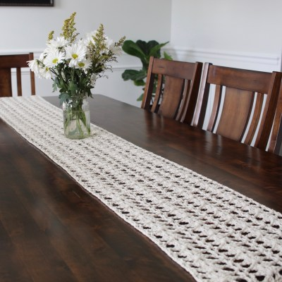 The Lily Crochet Table Runner