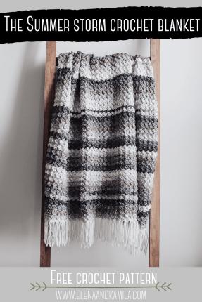 Summer storm crochet blanket pin