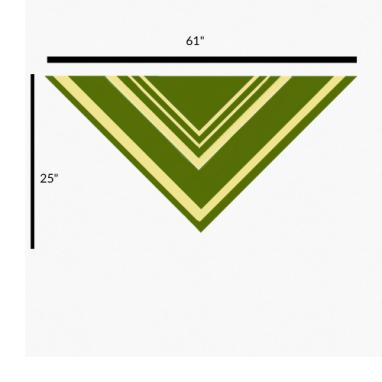 demelza shawl schematic